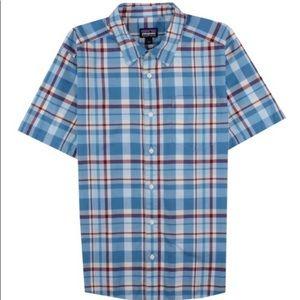 Patagonia plaid button down shirt sleeve XL